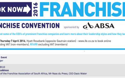 Franchise Convention – 7 April 2016